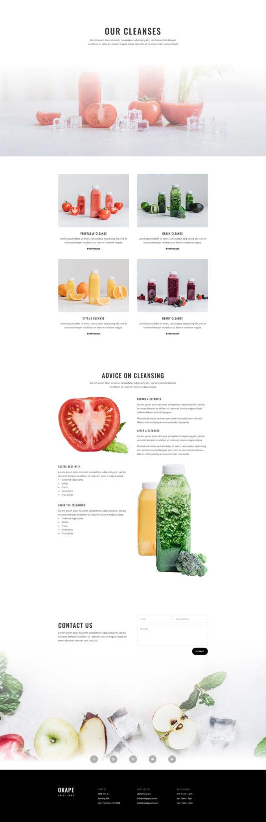 Juice shop cleanses