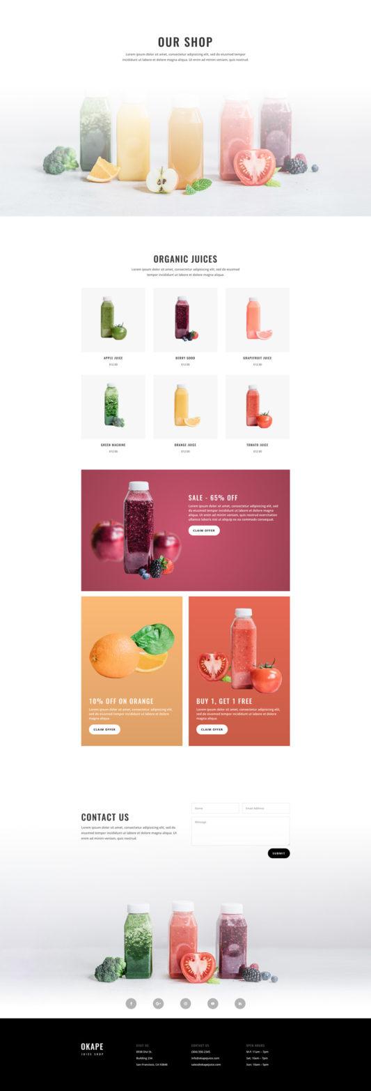 Juice shop - shop