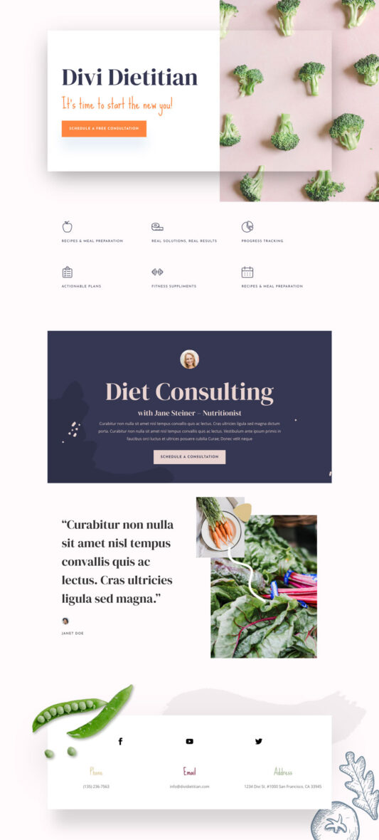 dietitian home page
