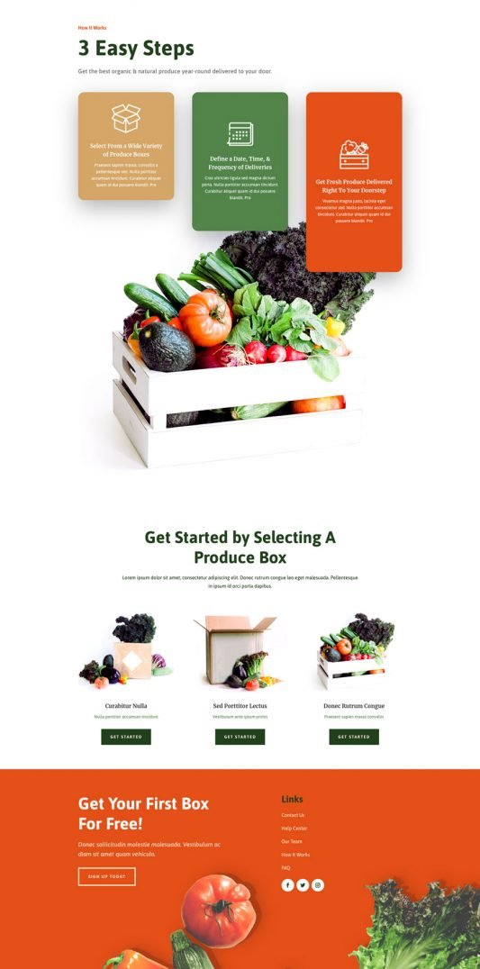 Product box How it works page